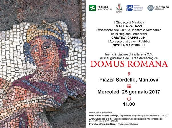 Inaugurazione della passeggiata archeologica in piazza Sordello