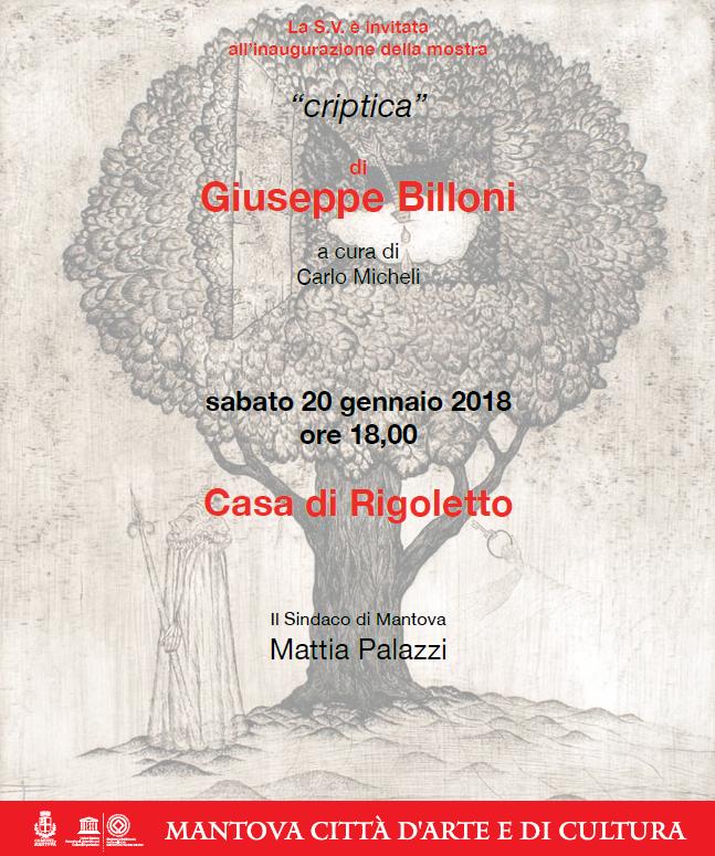 "Mostra di pittura ""CRIPTICA"" di Giuseppe Billoni"
