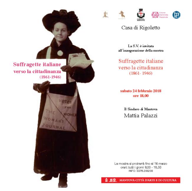 """Mostra """"Suffragette italiane verso la cittadinanza (1861-1946)"""""""
