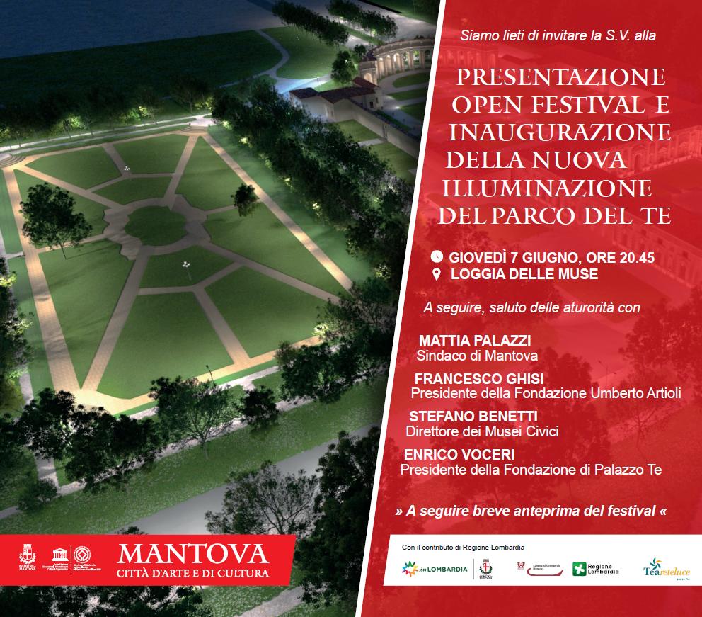 Presentazione Open Festival e inaugurazione della nuova illuminazione del Parco del Te