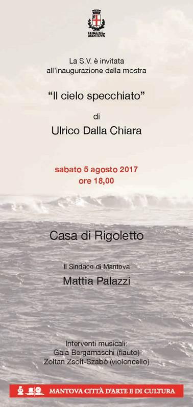 """Inaugurazione mostra """"Il cielo specchiato"""" di Ulderico Dalla Chiara"""