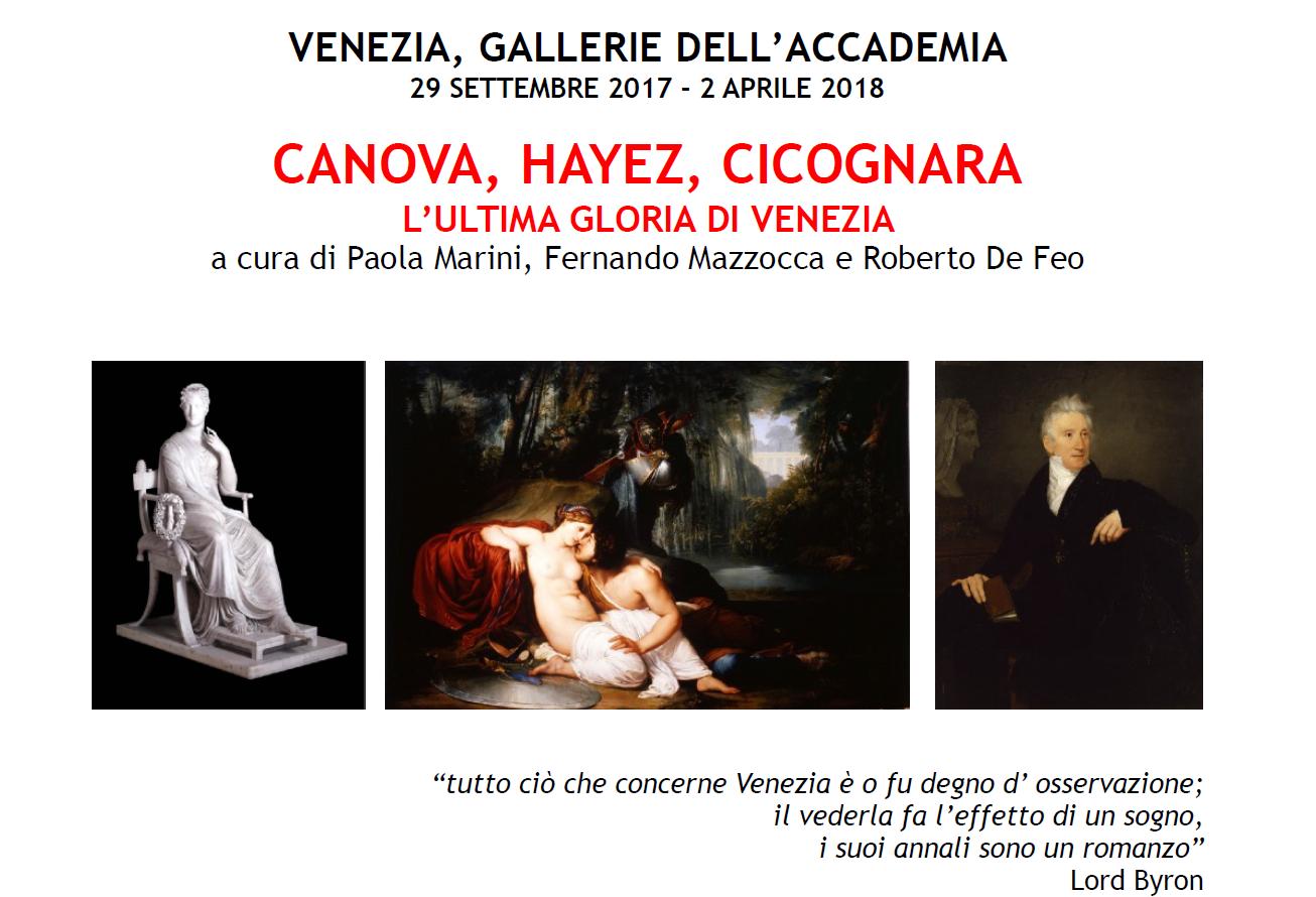 Mostra Canova, Hayez, Cicognara. L'ultima gloria di Venezia.