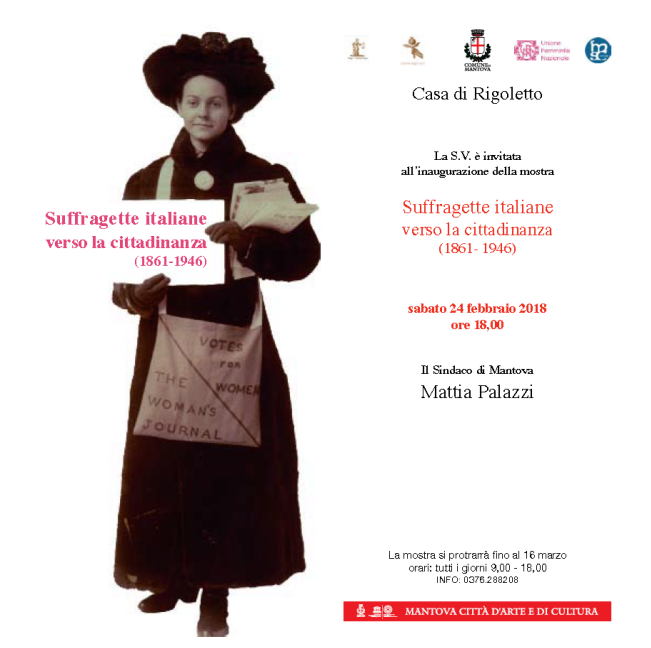 mostra suffragette italiane verso la cittadinanza