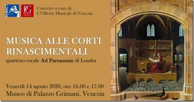 Musica alle corti rinascimentali al Museo di Palazzo Grimani